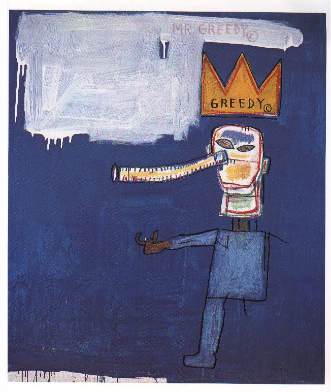Basquiat Mr Greedy